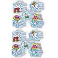 Carson Dellosa Dazzle Stickers Snowflakes, 75 Per Pack, 12 Packs