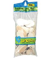 Woodsies Variety Pack 330/Pkg-Teardrops/Circles/Ovals, , hi-res