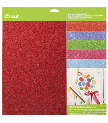 Cricut 12''x12'' Glitter Cardstock Sampler-Brights
