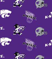 Kansas State University Wildcats Fleece Fabric -All Over, , hi-res