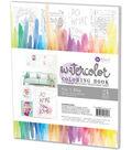 Prima Marketing 24 Sheets 8\u0027\u0027x10\u0027\u0027 Watercolor Coloring Book-Decor Quotes