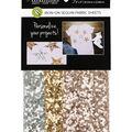 Fabric Expressions 3 pk 8\u0027\u0027x9\u0027\u0027 Iron-on Sequin Fabric Sheets