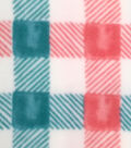 Anti-Pill Fleece Fabric -Wildflower Checked