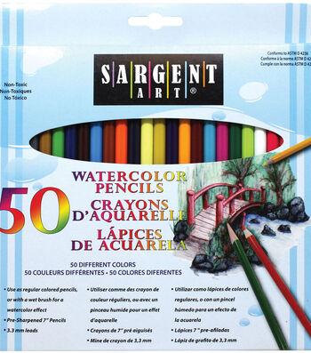 Sargent Art 50 pk 7'' Watercolor Pencils