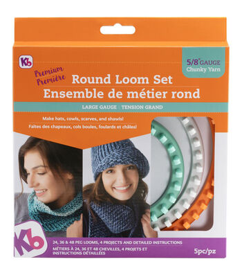 Knitting Board Chunky Round Loom 3/Pkg-Sizes 48, 36 & 24 Pegs