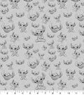 Disney Lilo & Stitch Knit Cotton Fabric-Sketch Toss