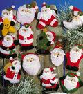 Lots Of Santas Ornaments Felt Applique Kit 3\u0022X4\u0022 Set Of 13