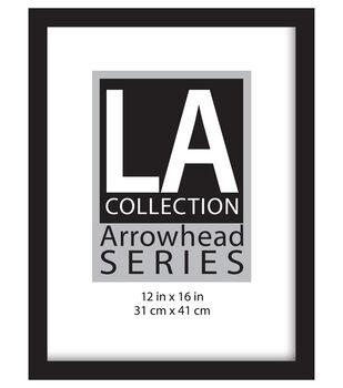 LA Collection Arrowhead Series Plastic Flat Top Frame 12''x16''-Black