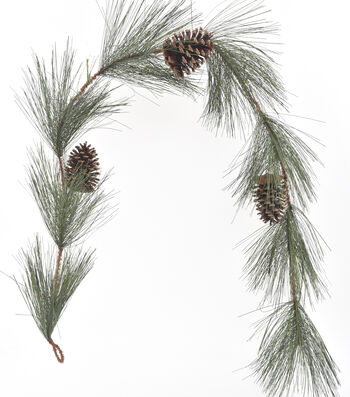 Blooming Holiday Christmas 4''x66'' Longleaf Pine & Pinecone Garland