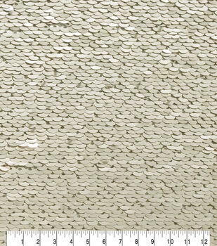 Casa Embellish Dahlia Fashion Sequin Fabric 51''-Champagne