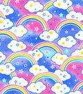 Snuggle Flannel Fabric -Colorful Rainbows