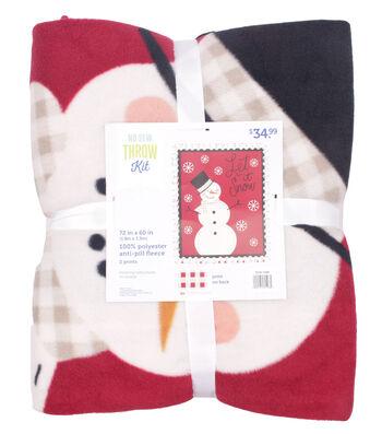 "No Sew Fleece Throw 72""-Let it Snowman"