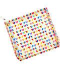 Freckled Fawn 8\u0027\u0027x8\u0027\u0027 Clear Plastic Zippered Pouch-Two Toned Heart