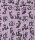 Anti-Pill Plush Fleece Fabric-Cute Happy Koalas