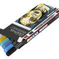 Marabu Graphix 6 pk Dual-tipped Aqua Pens-Metropolitan