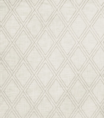 "Jaclyn Smith Print Fabric 54""-Alvin/Dove Gray"