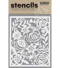 Hero Arts Stencil 6.2\u0022X5.2\u0022-Bold Floral