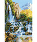 Landscape With Waterfall Counted Cross Stitch Kit 10 Count