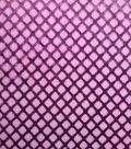 Burnout Velvet Fabric 57\u0022-Geo Blackberry Wine