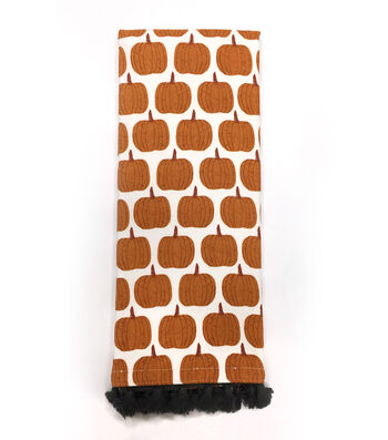 Simply Autumn 16''x28'' Towel-Orange Pumpkins