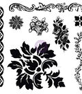 Prima Marketing Iron Orchid Designs 8 pk Decor Clear Stamps-Fleur