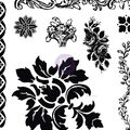 Prima Marketing Iron Orchid Designs 8 pk Decor Clear Stamps-Fleur
