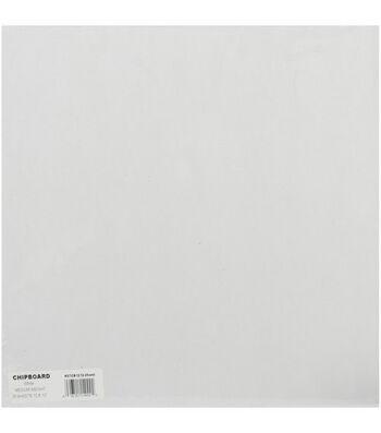 "Grafix 12""x12"" Medium Weight Chipboard Sheets-25PK/White"