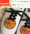 Wrights 2 pk 2.4\u0027\u0027x2.5\u0027\u0027 Basketball Shoe Embellishments-Orange
