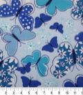 Anti-Pill Fleece Fabric 59\u0022-Blue Butterflies