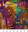 Legacy Studio Indian Batiks Cotton Fabric 44\u0022-Aztec Squares Rainbow