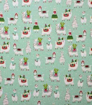 Super Snuggle Flannel Fabric-Holiday Llama Fun