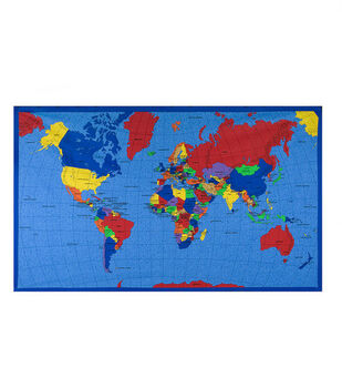Classroom decorations shop classroom decor joann novelty cotton fabric world map panel gumiabroncs Image collections