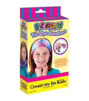 Creativity for Kids E-Z Spray Tie Dye Bandana Mini Kit, , hi-res