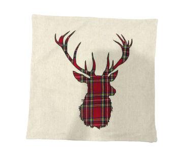 Handmade Holiday Christmas 18''x18'' Pillow Shell-Reindeer
