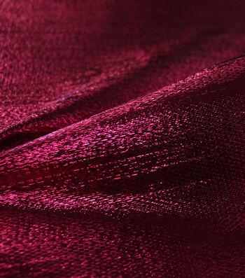 Metallic Apparel Lame Fabric 44''-Shiny Hot Pink