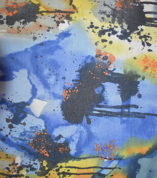 Fast Fashion Spandex Fabric-Blue Splatter