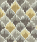 Waverly Lightweight Decor Fabric 13\u0027\u0027x13\u0027\u0027 Swatch-Shale Baroque Bargello