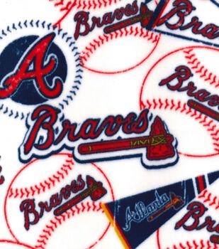 Atlanta Braves Fleece Fabric Vintage