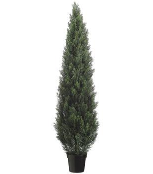 Bloom Room Luxe 72'' Cedar Topiary-Green