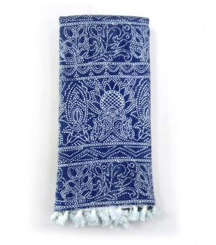 Indigo Mist Batik Dot Towel