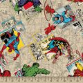 Marvel\u0027s The Avengers Print Fabric-Retro Badge Print