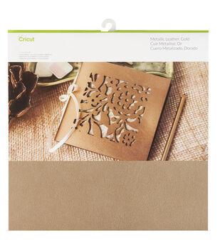 Cricut Metallic Leather Gold