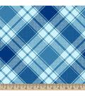Blizzard Fleece Fabric 59\u0022-Annie Plaid Light Aqua