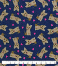 Valentine\u0027s Day Snuggle Flannel Fabric-Terriers & Hearts