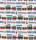 Snuggle Flannel Fabric 42\u0027\u0027-Choo Choo Train