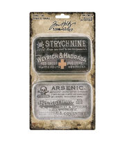 Tim Holtz Idea-ology Halloween-Trinket Tins, , hi-res