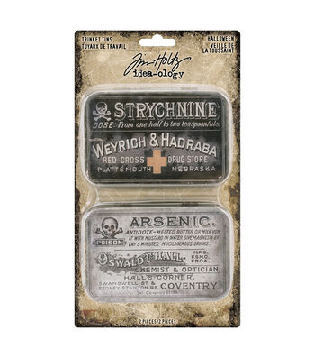 Tim Holtz Idea-ology Halloween-Trinket Tins