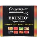 Colourcraft 8ct Brusho Crystal Colors Set