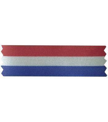 "Offray Red, White & Blue Stripe Ribbon 50 Yds-7/8"""