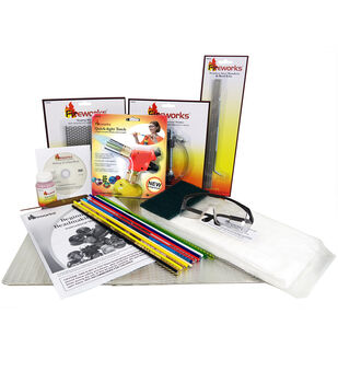 Diamond Tech Craft Fireworks Beginner's Essentials Glass Bead Making Kit